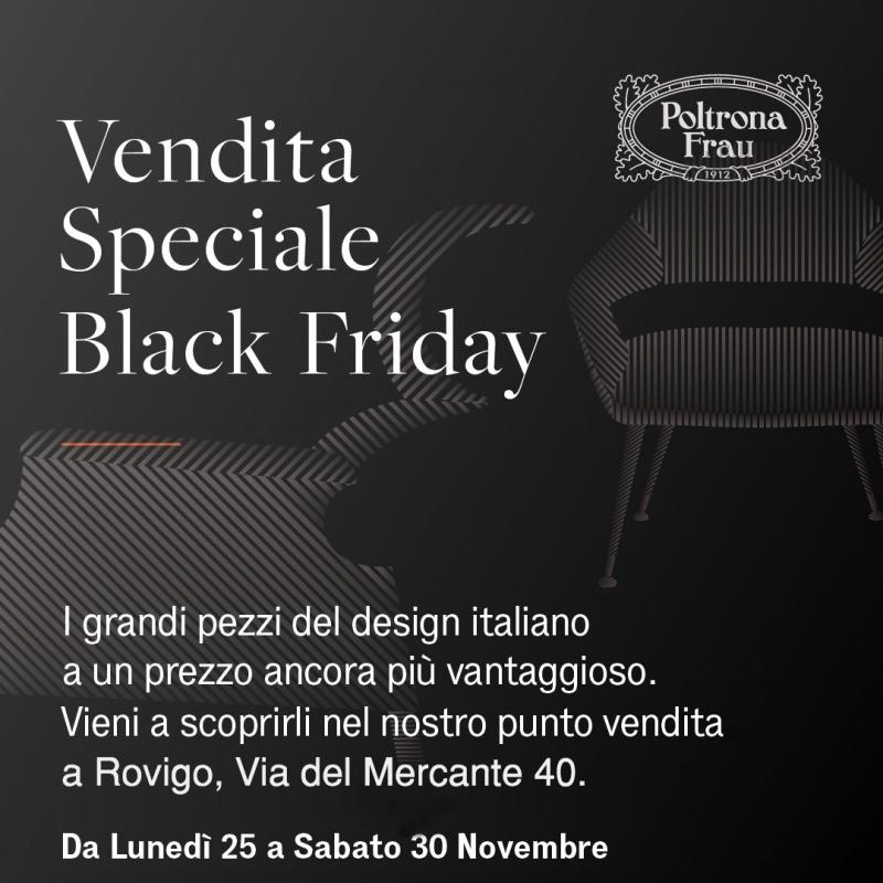 BLACK FRIDAY di Poltrona Frau!